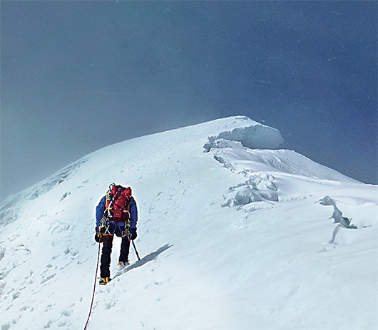 Nearing the summit of Rurec