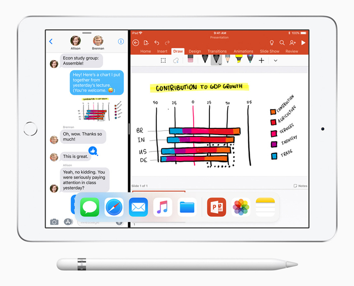 A look at Apple's 9.7-inch iPad with the Apple Pencil support.