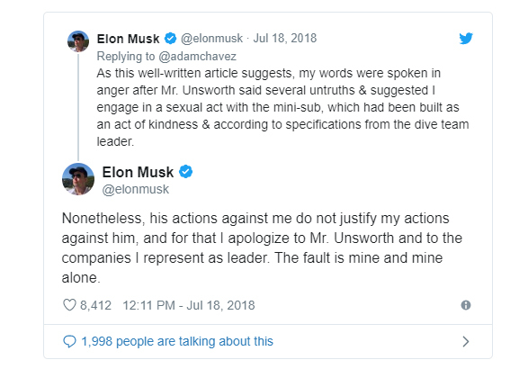 Elon Musk says 'pedo guy' tweet aimed at British cave diver not an accusation, just a 'common insult used in SA'